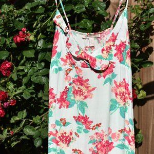 Floral Sundress with Ruffled Surplice Neckline